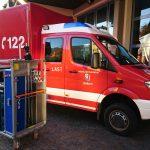 Beladung: Ausrüstung für Einsätze im Bahntunnel.  Bedarfsbeladung im Feuerwehrhaus