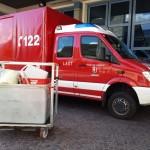 Beladung: Ausrüstung zur Personendekontamination,  Fixe Beladung auf dem KÖF
